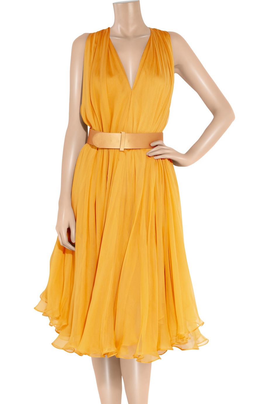 Alexander McQueen Yellow Dresses