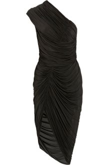 Alexander Wang Asymmetric Ruched Jersey Dress - Lyst