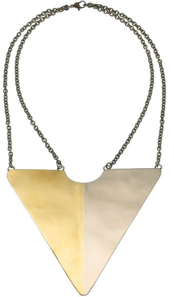 Anndra Neen Tone Tone Triangle Necklace - Lyst
