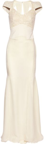Antonio Berardi Macramé Silk organza and Chiffon Dress - Lyst