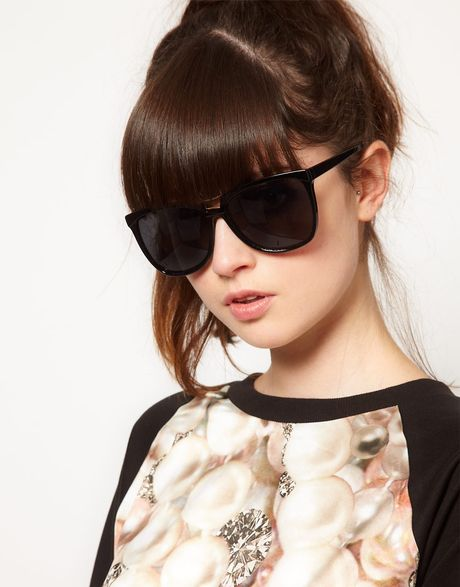 Asos Bridge Detail Cat Eye Sunglasses in