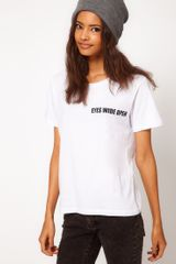 ASOS Collection Asos Tshirt with Eyes Wide Open Print - Lyst