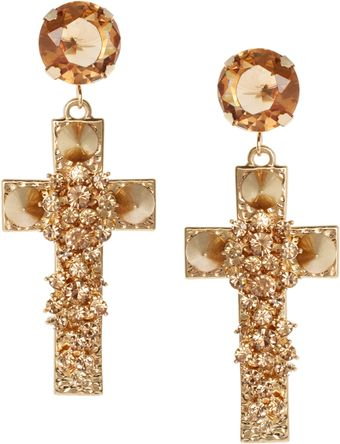 Asos Jewel Cross Earrings - Lyst