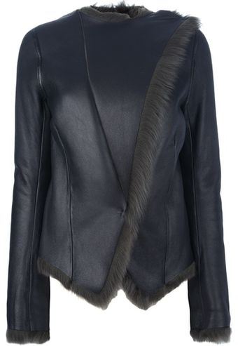 Balenciaga Fur Lined Jacket - Lyst
