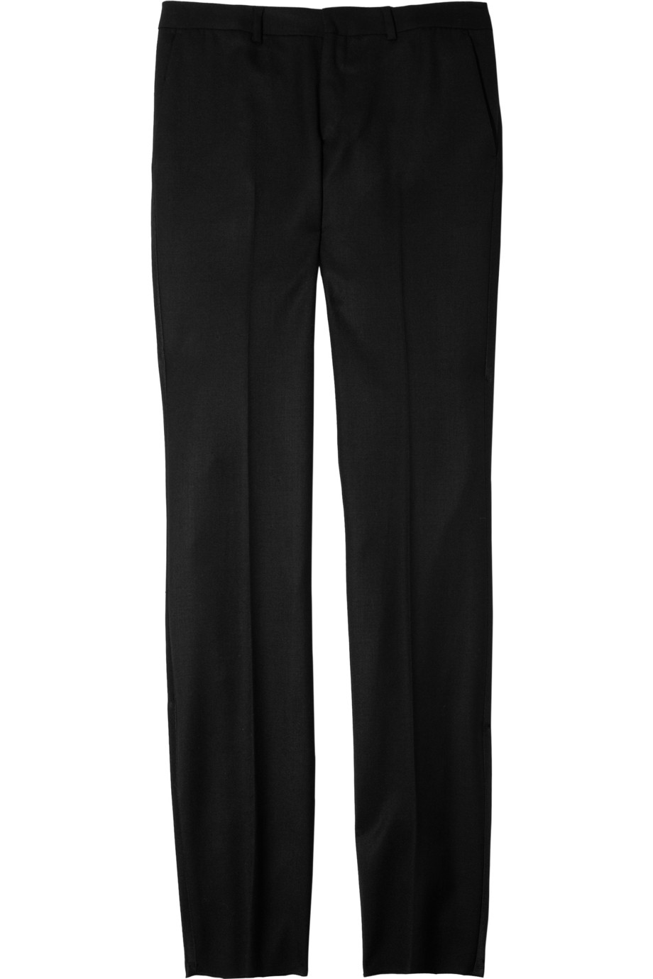 Black fleece by brooks brothers Wool-twill Straight-leg Pants in ...
