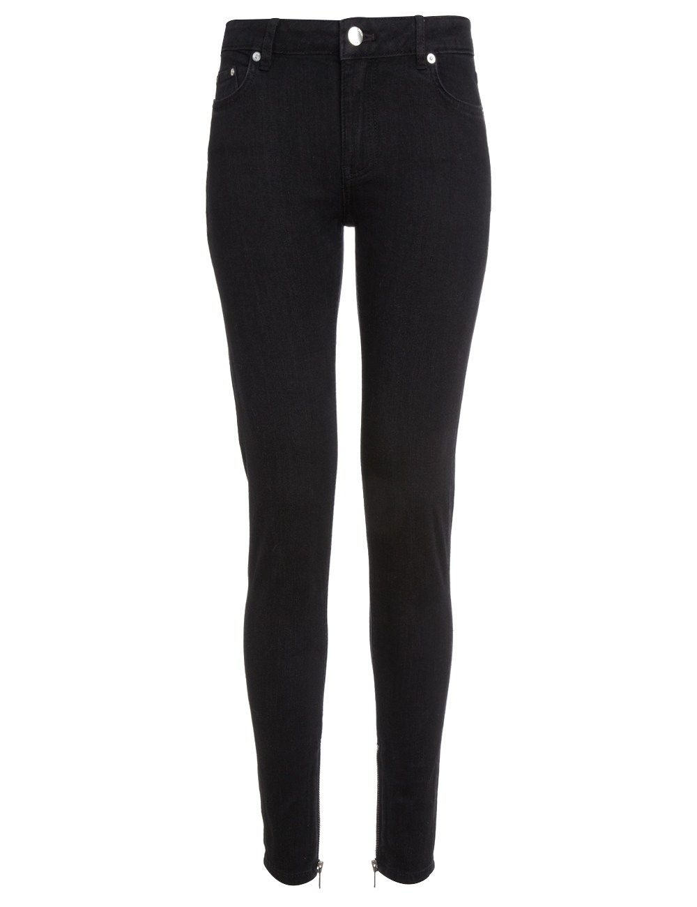 Blk dnm Black Skinny Jeans 4 in Black | Lyst