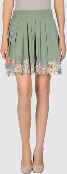 Catherine Malandrino Mini Skirt - Lyst