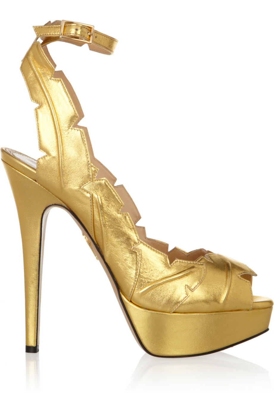 footaction Charlotte Olympia Metallic Leaf Sandals buy cheap footaction outlet comfortable TRzZyl