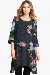 Citron Floral Print Silk Dress - Lyst