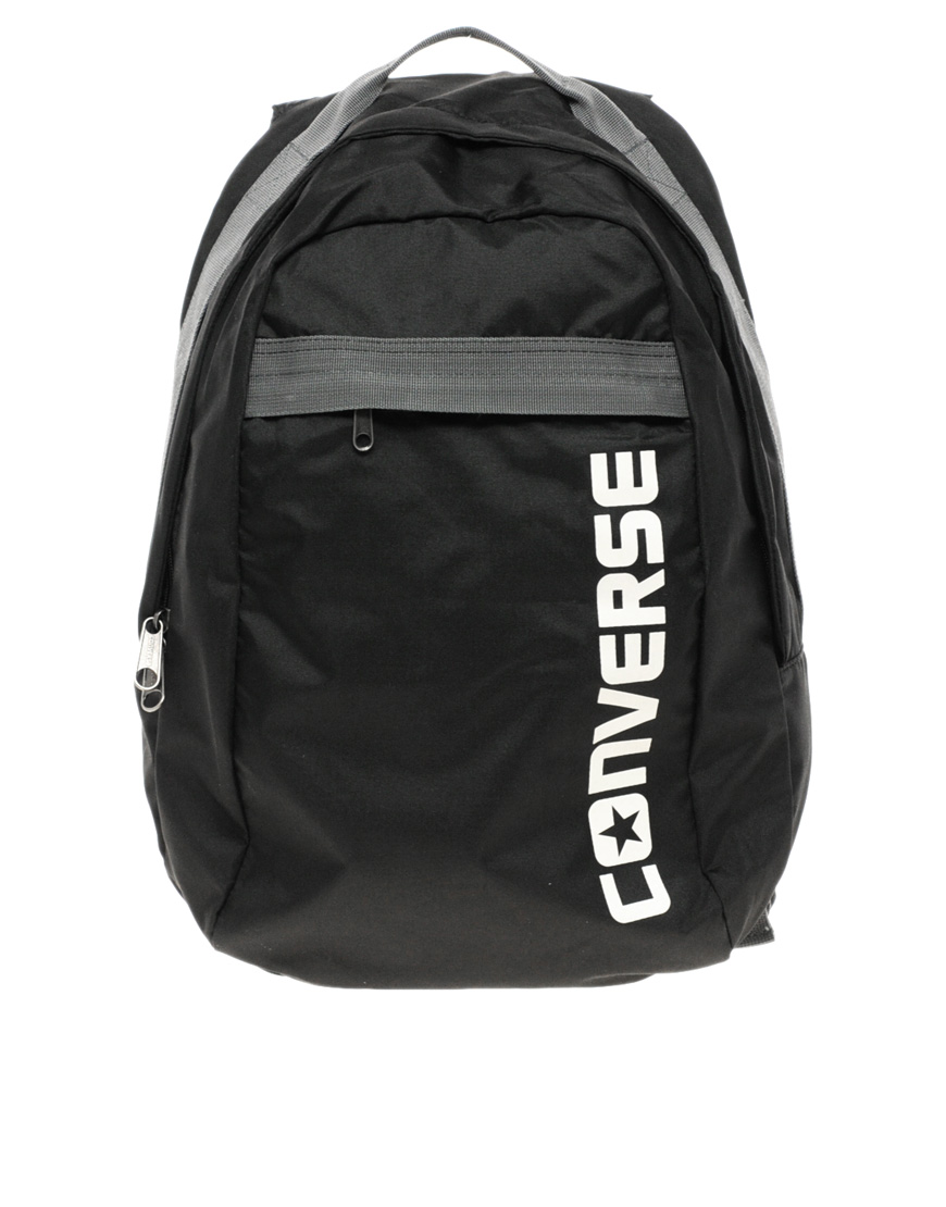 lyst converse backpack in black for men