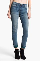 Current/Elliott The Rolled Print Stretch Jeans - Lyst