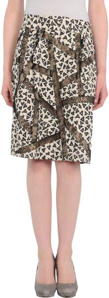 Dries Van Noten Knee Length Skirt in Black
