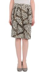 Dries Van Noten Knee Length Skirt in Black - Lyst