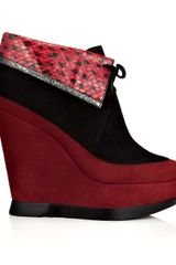 Edmundo Castillo 120mm Cranberry Marlene Wedges in Red (cranberry) - Lyst