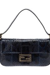 Fendi Python Skin Shoulder Bag - Lyst
