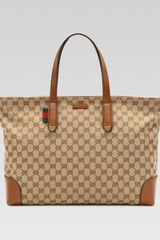 Gucci Large Original GG Canvas Tote Bag - Lyst