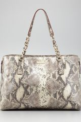 Kate Spade Cobble Hill Andee Snakeprint Tote Bag - Lyst