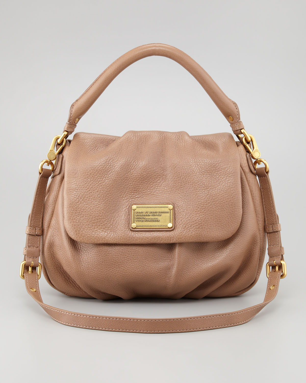 Marc by marc jacobs Classic Q Lil Ukita Satchel Bag Praline in ...