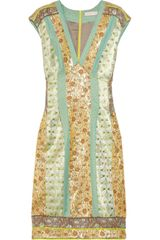 Matthew Williamson Paneled Brocade Dress