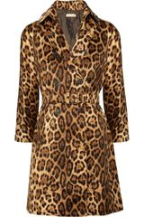 Michael Kors Animal Print Cotton Coat - Lyst