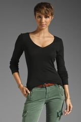 Michael Stars Long Sleeve V Neck - Lyst