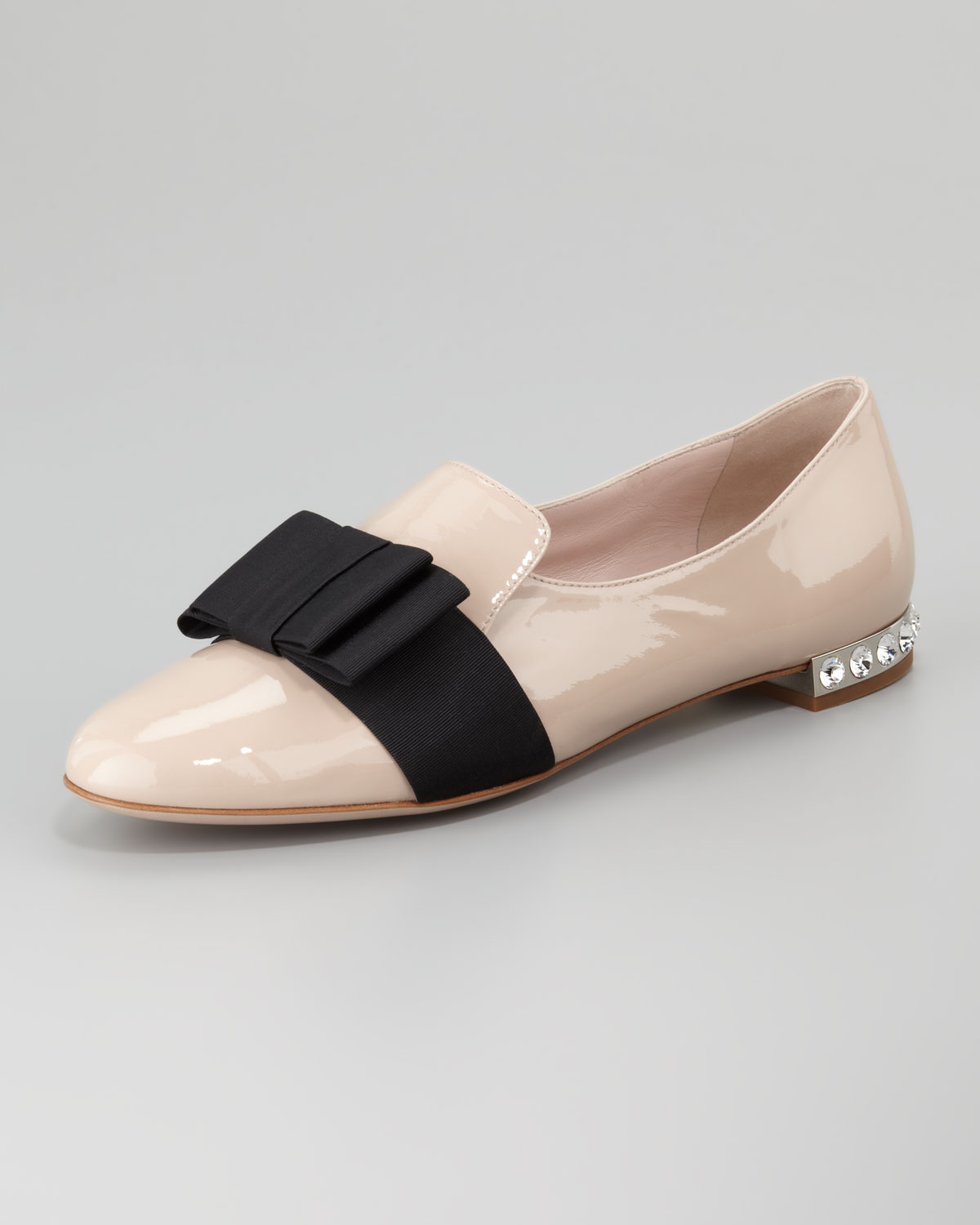 Miu Miu Leather Bow Flats buy cheap view tumblr discount 100% original L4NIIIi
