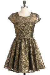 Modcloth Golden Garden Dress in Pink - Lyst