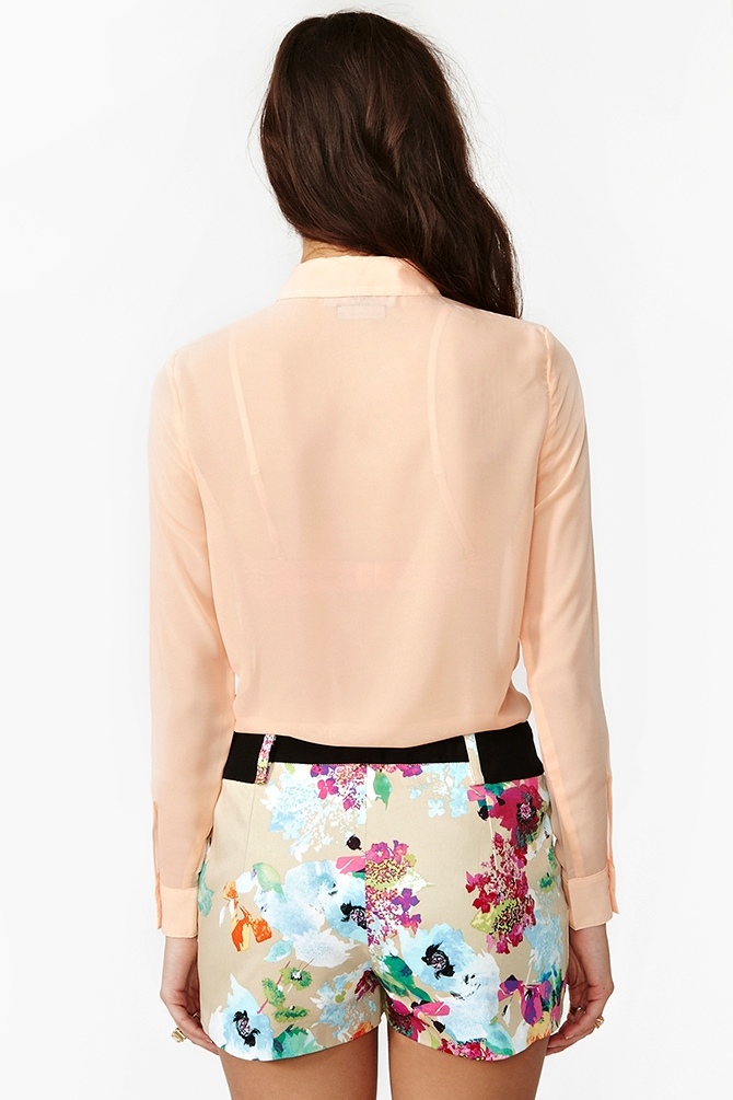 Nasty gal Origami Floral Shorts | Lyst - photo#14