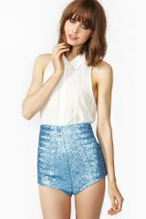 Nasty Gal Iced Sequin Shorts - Lyst