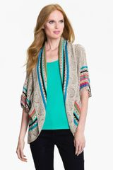Nic + Zoe Circle Cut Pointelle Cardigan - Lyst