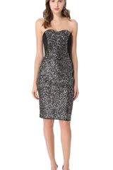 Notte By Marchesa Sequin Corset Dress - Lyst