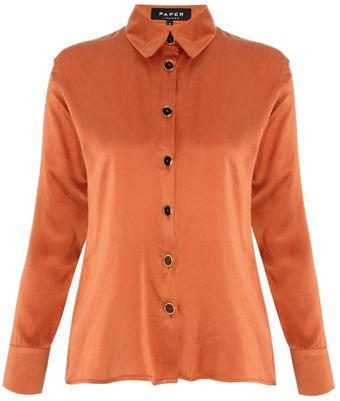 Paper London Flame Silk Kardoman Shirt - Lyst