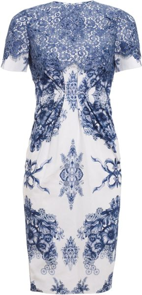 Preen Blue Teacup Print Catherine Dress - Lyst