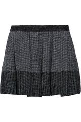 Proenza Schouler Baja Pleated Tweed Mini Skirt - Lyst