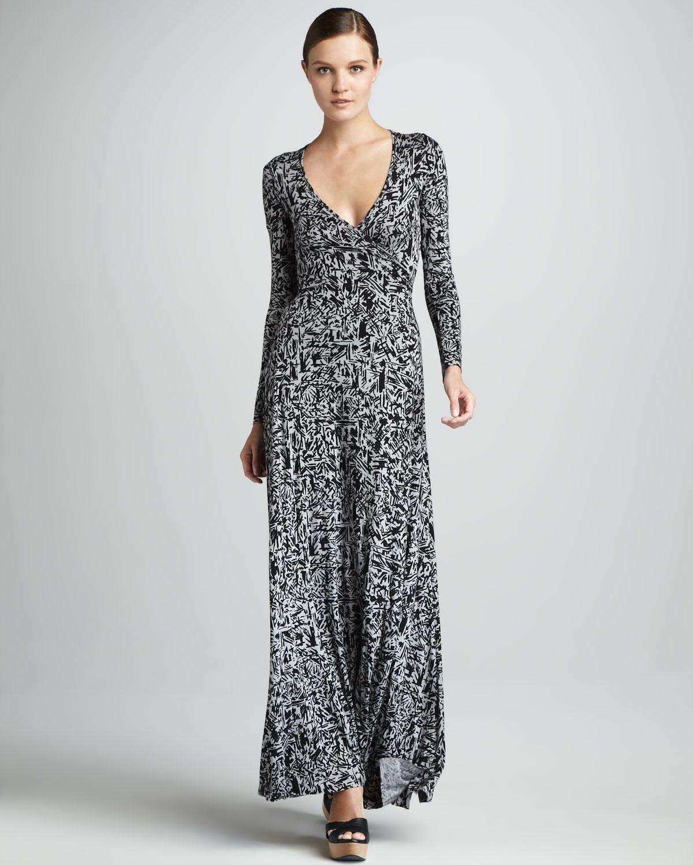 d83fe973455b1 Lyst - Rachel Pally Print Wrapped Maxi Dress Womens in Black