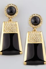 Rachel Zoe Rectangle Drop Clip Earrings - Lyst