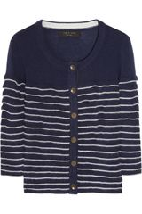 Rag & Bone Warren Striped Woolblend Cardigan - Lyst