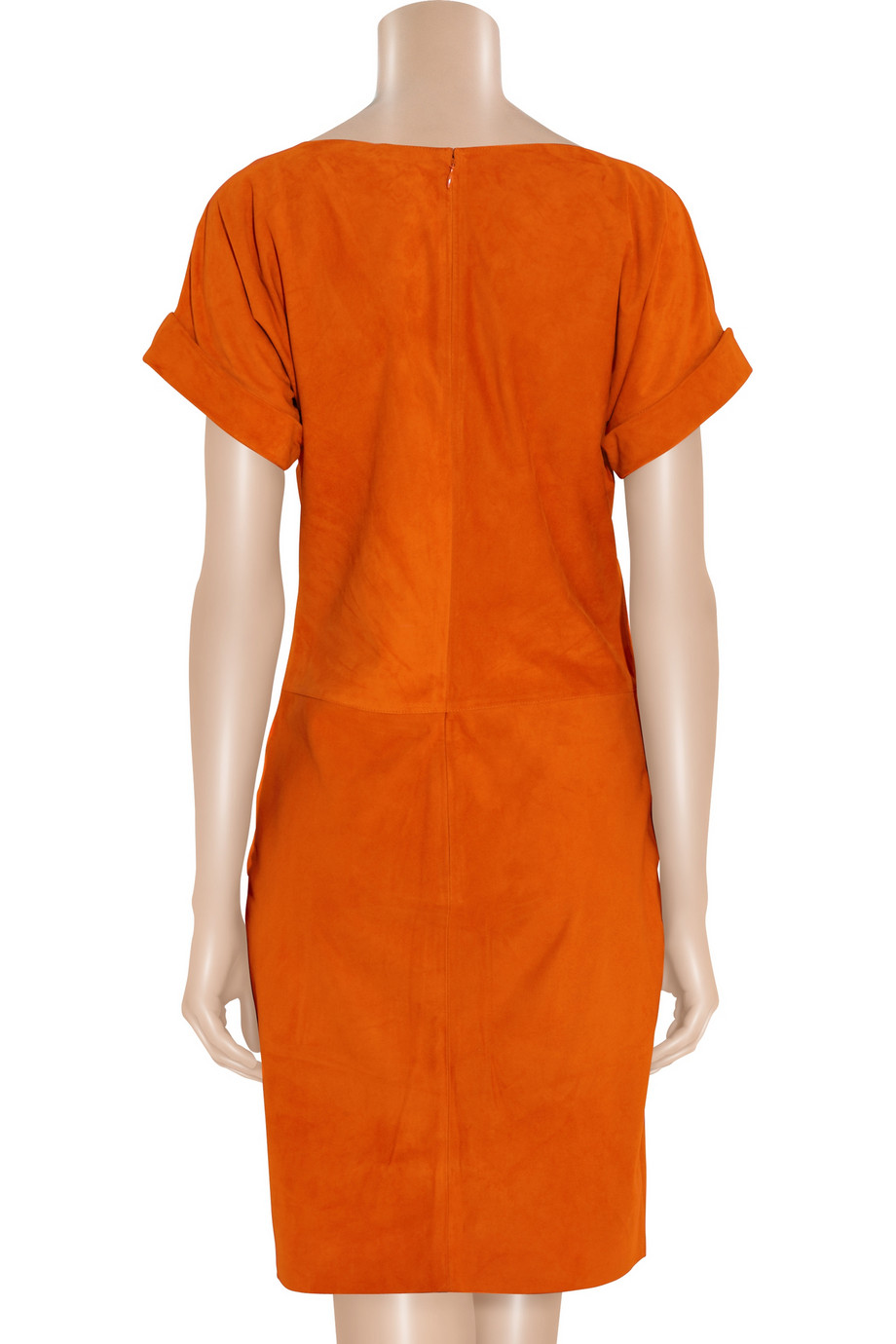 Lyst Ralph Lauren Collection Shiloh Suede Dress In Orange