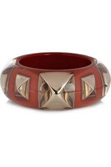Sonia Rykiel Pyramid Stud and Resin Bracelet - Lyst
