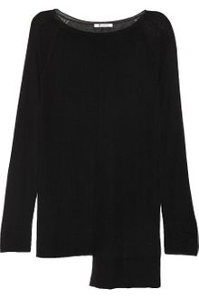 T By Alexander Wang Asymmetric Ribbed Open knit Tunic - Lyst