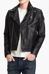 Topman Leather Biker Jacket - Lyst