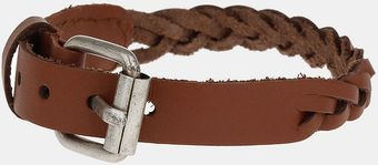 Topman Leather Plait Bracelet - Lyst