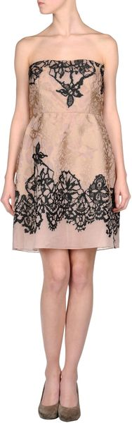 Valentino Short Dress in Pink - Lyst