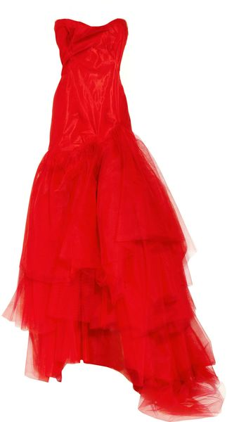 Vivienne Westwood Gold Label Paper Bag Tiered Silktaffeta and Tulle Gown - Lyst