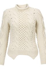 Yigal Azrouel Lattice Cable Knit Jumper - Lyst
