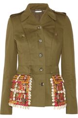 Alexander McQueen Embellished Cotton Twill Jacket - Lyst