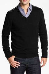 Boss Black Lukas Vneck Wool Blend Sweater - Lyst