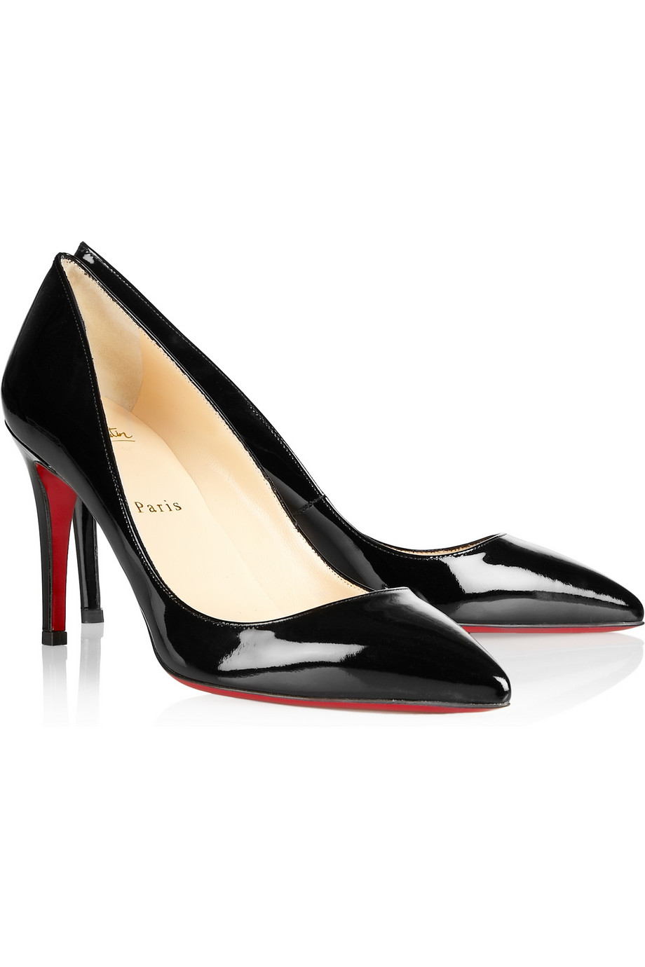 christian louboutin pigalle 100 black patent leather