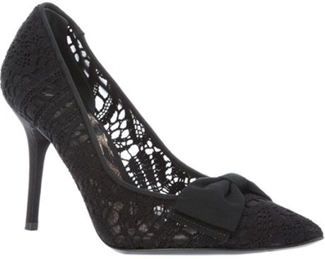 Dolce & Gabbana Printed Pump in Black