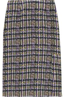 Marni Pleated Printed Silkcrepe Skirt - Lyst